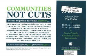 Communities Not Cuts Rally – Stand Together For What Matters