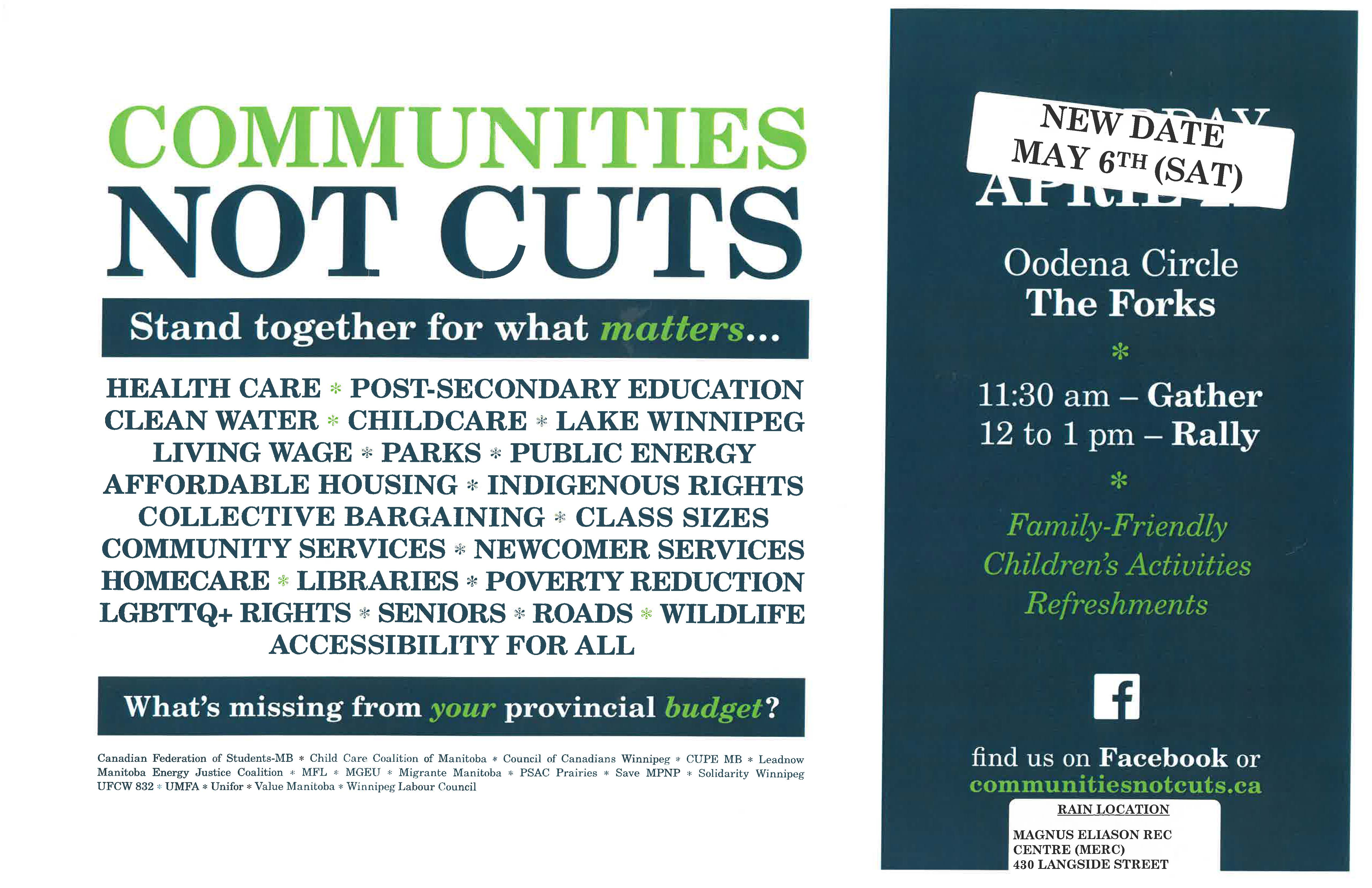 Communities Not Cuts Rally Stand Together For What Matters Cupe 998