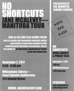 No Shortcuts - Jane McAlevey Manitoba Tour