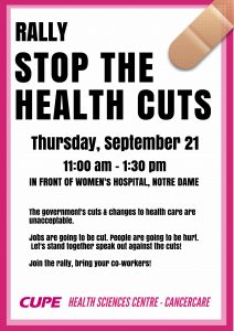 Stop the Health Cuts Rally @ health sciences centre womens hospital  | Winnipeg | Manitoba | Canada